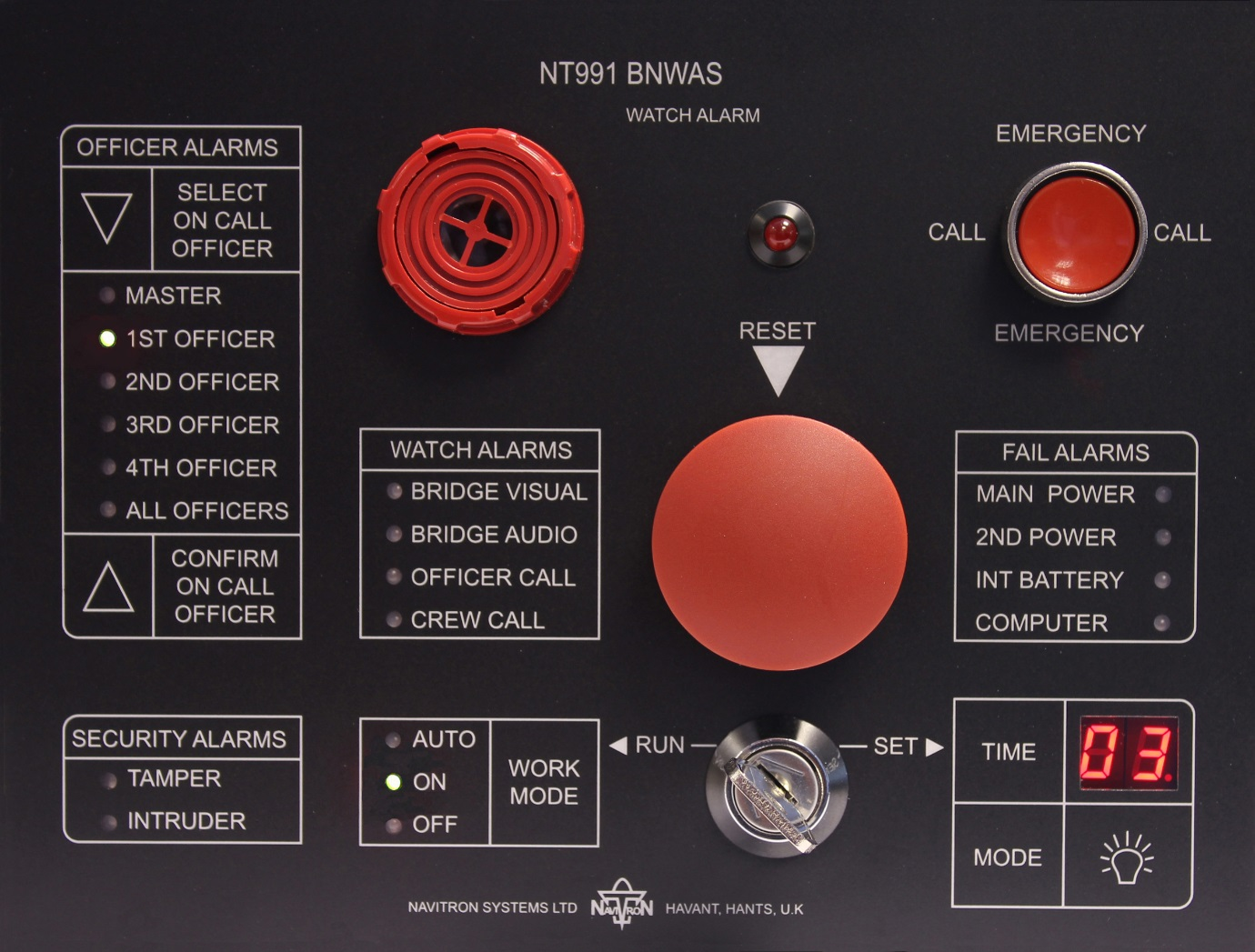 NAVITRON BRIDGE NAVIGATIONAL WATCH ALARM SYSTEM (BNWAS) NT991BNWAS | Codar Pte Ltd